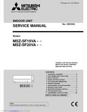 mitsubishi electric msz sf20va manuals rh manualslib com mitsubishi electric service manual och 460 mitsubishi electric owners manual