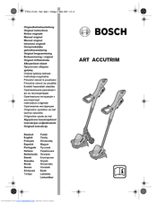 Bosch Art 2300 Accutrim Original Instructions Manual