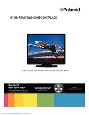 polaroid 19 hd ready user manual pdf download rh manualslib com polaroid 22 hd lcd tv dvd combo manual Polaroid DVD Recorder