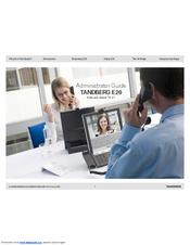tandberg e20 manuals rh manualslib com Cisco E20 Manual Headset Cisco E20