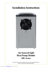 RHEEM MPS SERIES INSTALLATION INSTRUCTIONS MANUAL Pdf Download