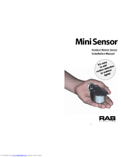 RAB LIGHTING MINI SENSOR INSTALLATION MANUAL Pdf Download. on