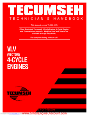 tecumseh vlv40 vlv50 vlv55 vlv60 vlv65 4 cycle engines full service repair manual