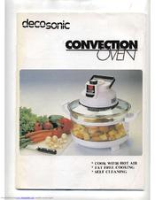 decosonic convection oven manuals rh manualslib com convection oven user manual electrolux convection oven user manual
