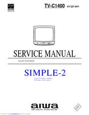 aiwa tv c1400 manuals rh manualslib com aiwa tv instruction manuals aiwa tv-c201ker service manual