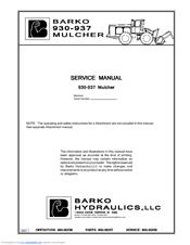 barko hydraulics 930 service manual pdf download rh manualslib com