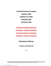 toshiba satellite a300 maintenance manual pdf download rh manualslib com Dish Satellite Pro Satellite Pro S300 Details