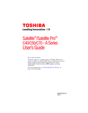 Toshiba Satellite C50 User Manual