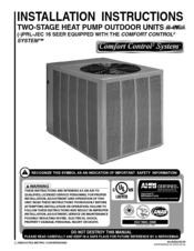 RHEEM R-410A INSTALLATION INSTRUCTIONS MANUAL Pdf Download