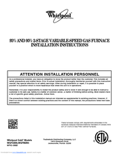 Whirlpool Gold WGFD295 Installation Instructions Manual