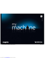 MAGIMIX M100 Nespresso Essenza User Manual
