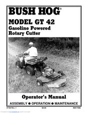 BUSH HOG GT42 OPERATOR\'S MANUAL Pdf Download.