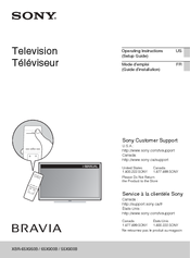 Sony Bravia XBR-65X950B Operating Instructions Manual