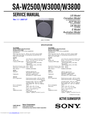 sony w3000 sa subwoofer 200 watt manuals rh manualslib com Sony Powered Subwoofer 12 Sony Powered Subwoofer