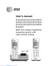 at t el52203 manuals rh manualslib com att phone manual cl82301 att phone manual 1070