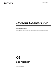 Sony CCU-50 Operation Instructions Manual