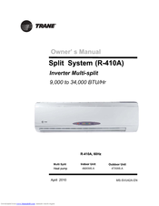 trane 4mxw6 a manuals rh manualslib com trane installation manual heat pump trane installation manual