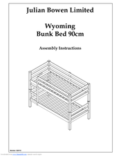 Julian Bowen Limited Wyoming Bunk Bed 90cm Manuals