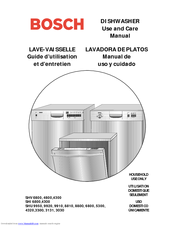 Bosch SHU 4320 series Use And Care Manual