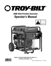 troy bilt 8000 watt manuals rh manualslib com troy bilt generator 6250 manual troy bilt generator manual 030247