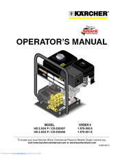 Kärcher HD 2.3/23 P / CD-23233 Operator's Manual