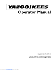 manuals and user guides for yazoo/kees 966509601  we have 1 yazoo/kees  966509601 manual available for free pdf download: operator's manual