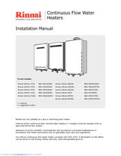 rinnai infinity vt26 reu vr2626wg manuals rh manualslib com rinnai infinity 16 service manual rinnai infinity 16 installation manual