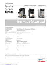 saeco avanti manuals rh manualslib com avanti kappa service manual avanti ii service manual