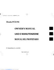 Honda PCX150i Owner's Manual