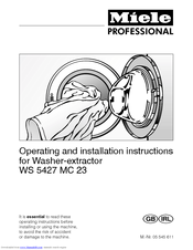 Miele WS 5427 MC 23 Operating And Installation Instructions