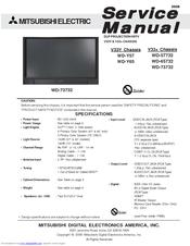 mitsubishi electric wd 65732 manuals rh manualslib com wd 65735 service manual wd 65735 service manual