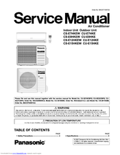 Panasonic CS-E12HKEW Service Manual