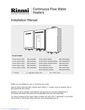 rinnai infinity xr24 manuals rh manualslib com rinnai infinity 24 manual Rinnai Gas Tankless Water Heater Installation