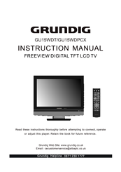 grundig gu15wdpcx manuals rh manualslib com Grundig Majestic Console Grundig Console Stereo with Turntable