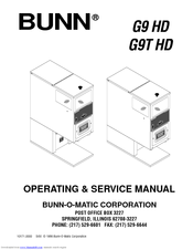 Bunn Coffee Maker User Guide : Bunn G9 HD Manuals