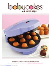 babycakes cp 12 instruction manual pdf download rh manualslib com babycakes instruction manual babycakes instruction manual