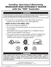 Munchkin HeatTransfer 140M Manuals