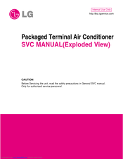 LG Packaged Terminal Air Conditioner Service Manual