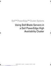 Dell PowerEdge 1855 Use Manual