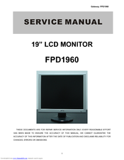 gateway fpd1960 manuals rh manualslib com gateway monitor hx2000 manual gateway fpd2485w monitor manual