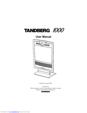 tandberg 1000 manuals rh manualslib com Tandberg 1000 MXP Tandberg 1000 Password