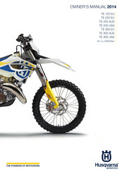 Husqvarna 2014 TE 300 AUS Owner's Manual
