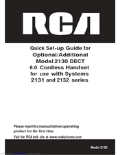 RCA 2130 DECT Quick Setup Manual