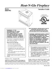 Heat Glo 8000trc Manuals Manualslib