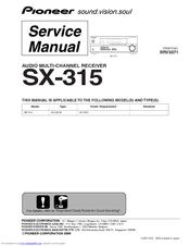pioneer sx 315 manuals. Black Bedroom Furniture Sets. Home Design Ideas