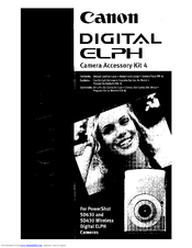 Canon Digital ELPH Manual