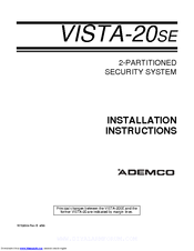 ademco vista 20hwse manuals rh manualslib com honeywell vista 20 installation manual ademco vista 20p programming manual