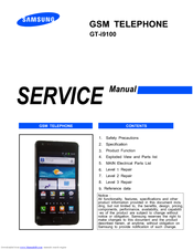 Samsung Galaxy S II GT-I9100 Service Manual
