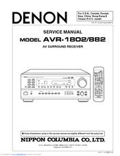 denon avr-1802 manual pdf