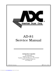 adc ad 81 manuals Dryer Plug Wiring Diagram at Adc 310 Dryer Wiring Diagram